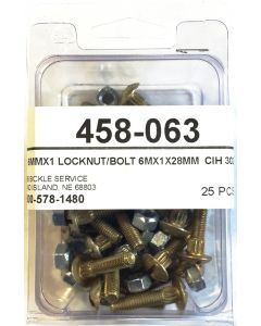C-IH 3020 25-pc pkg 28mm bolt and nut