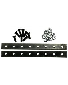 Splice kit for split UPS-able sickles, JD metric section hole spacing