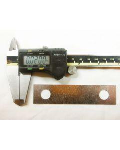 Shim  .030 on 3-inch center